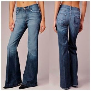 NWT 7 For All Mankind Ginger Wide Leg Trouser Jean